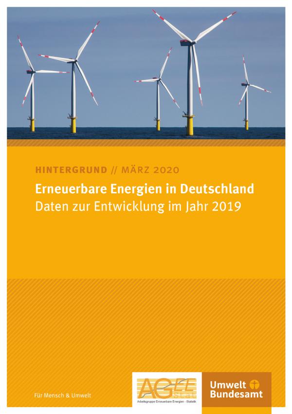 Cover des Hintergrundpapiers Erneuerbare Energien in Deutschland 2019