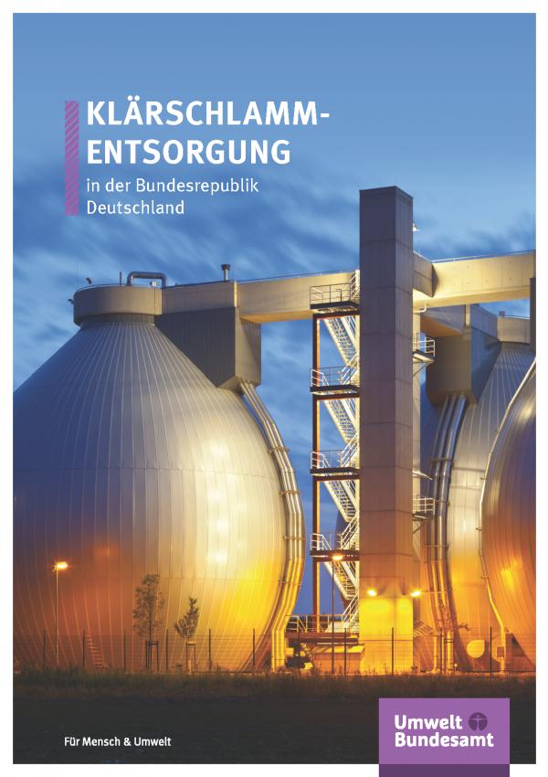 Cover der Fachbroschüre Klärschlammentsorgung in der Bundesrepublik Deutschland - moderne Kläranlage