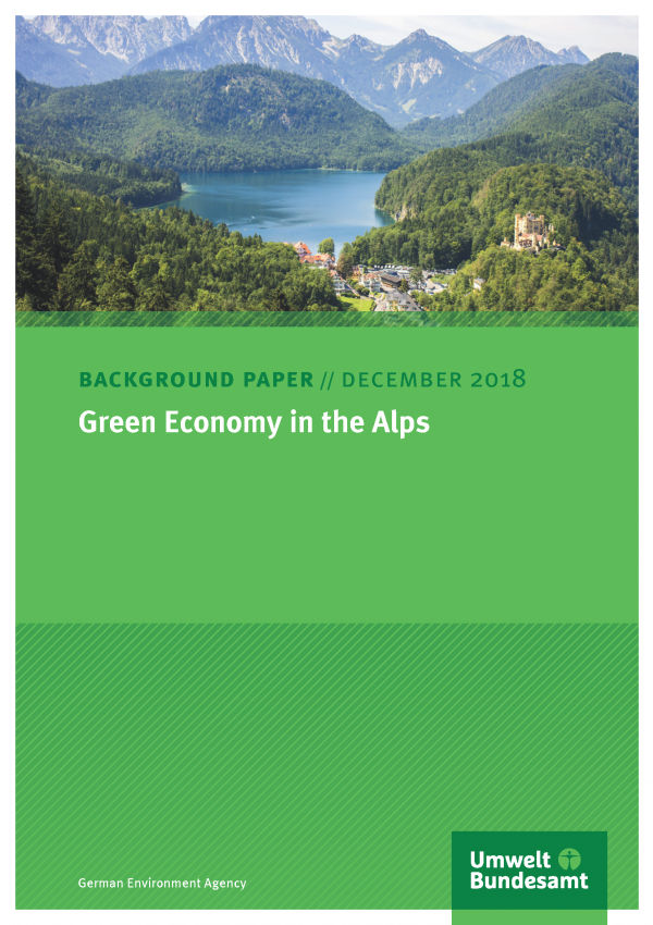 Cover of background paper Green Economy in the Alps