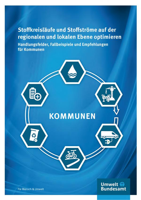 Cover der Fachbroschüre Stoffkreisläufe und Stoffströme auf der regionalen und lokalen Ebene optimieren