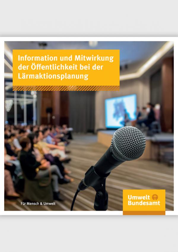 Cover des Leitfadens Information und Mitwirkung der Öffentlichkeit bei der Lärmaktionsplanung