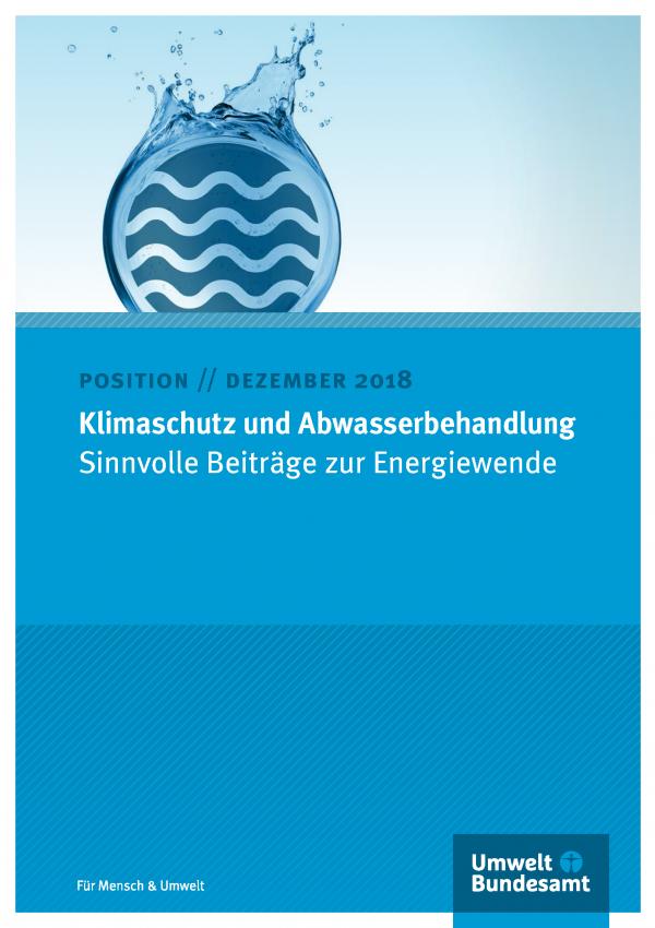 Cover des Positionspapiers Dezember 2018 Klimaschutz und Abwasserbehandlung