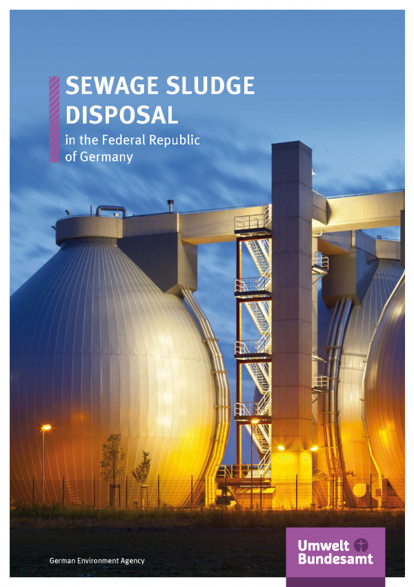 Cover of brochure Cover Sewage Sludge Disposal