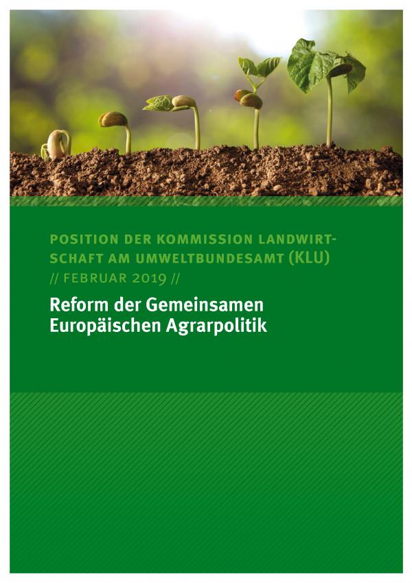 Cover des Positionspapiers der KLU Reform der Gemeinsamen Europäischen Agrarpolitik