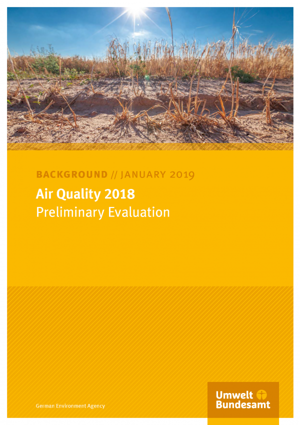 Cover of background paper Air Quality 2018