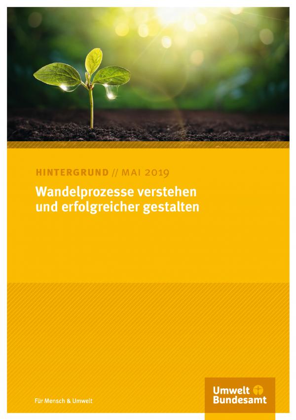 Cover des Hintergrundpapiers Wandelprozesse verstehen und erfolgreicher gestalten