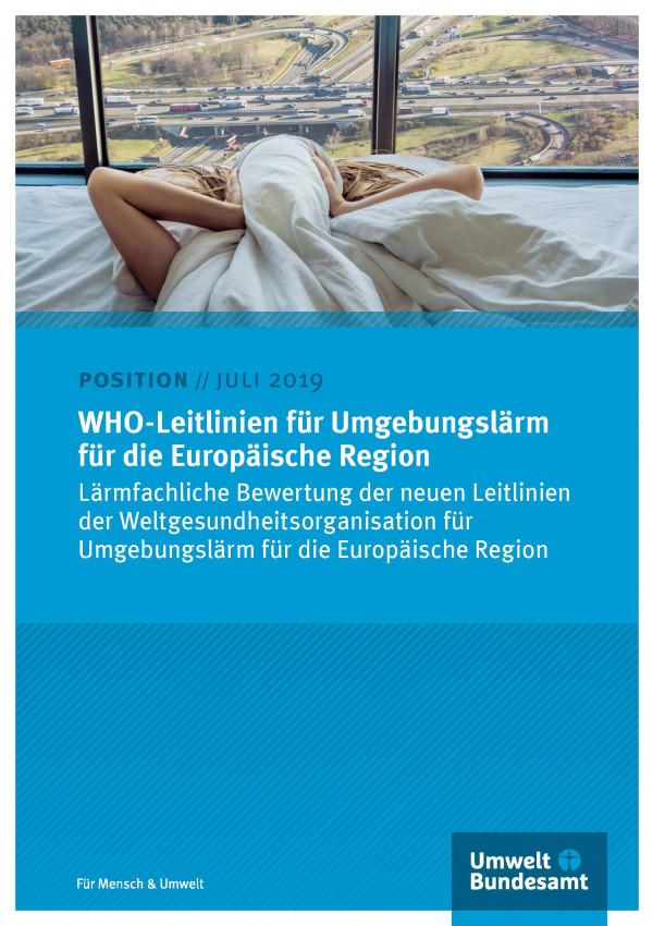 Cover des Positionspapiers WHO-Leitlinien für Umgebungslärm für die Europäische Region