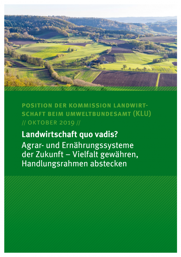 Cover des Kommissionspapiers Landwirtschaft quo vadis?