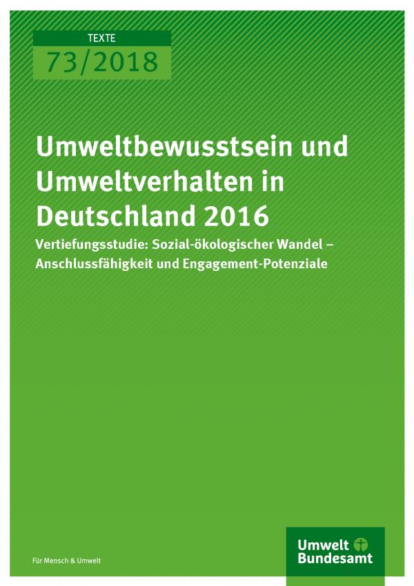 """Cover der Publikation Texte 74/2018 Möglichkeiten der verstärkten Nutzung von Synergien zwischen Umweltschutz und sozialer Gerechtigkeit in Programmen wie der """"Sozialen Stadt"""""""