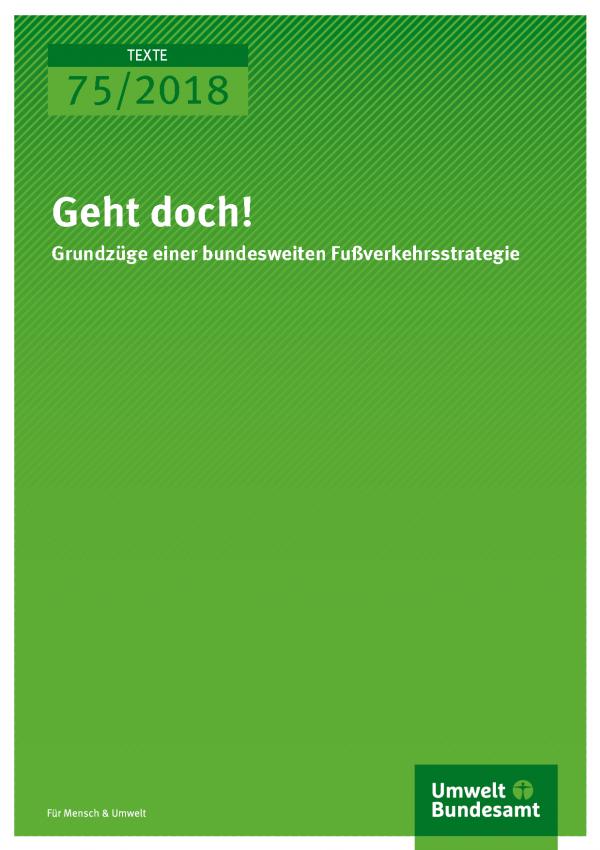 Cover der Reihe Texte 75/2018 Geht doch!
