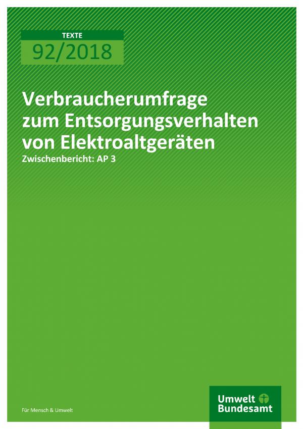 Cover der Publikation Texte 92/2018