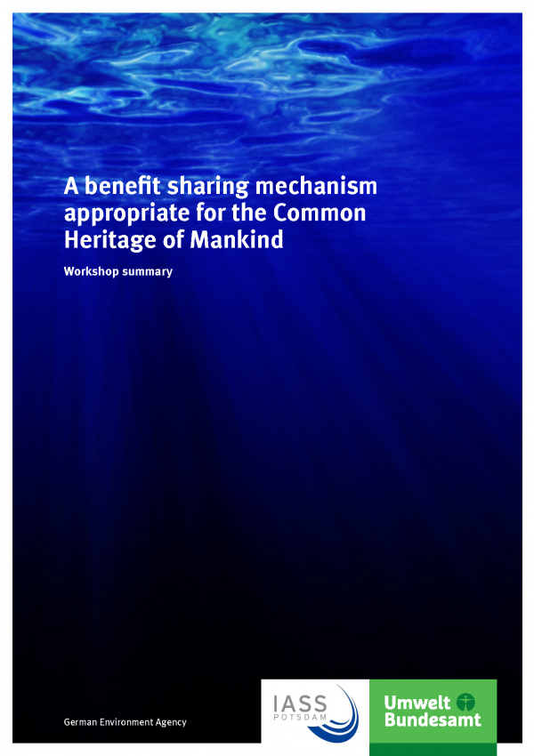 Cover of broschure A benefit sharing mechanism appropriate for the Common Heritage of Mankind