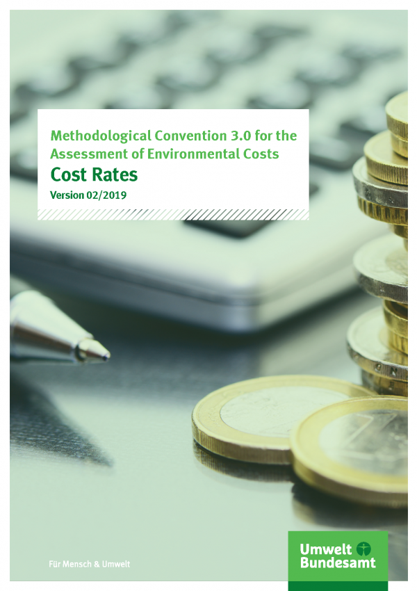 Cover of publication Methodological Convention 3.0 for the Assessment of Envirometal Costs - Cost Rates