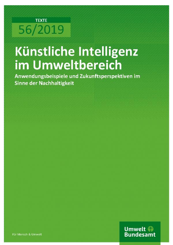 Cover der Publikation TEXTE 56/2019