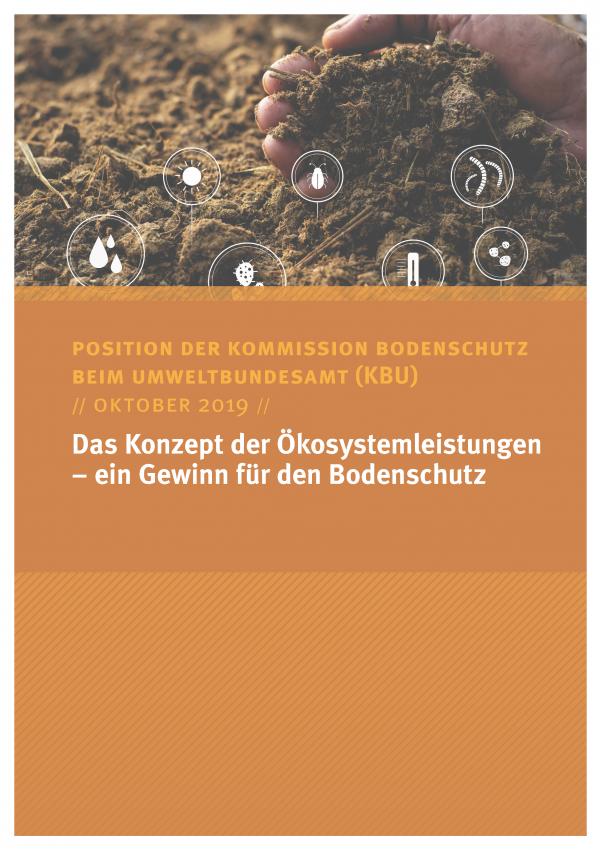 Cover des Positionspapiers Das Konzept der Ökosystemleistungen – ein Gewinn für den Bodenschutz
