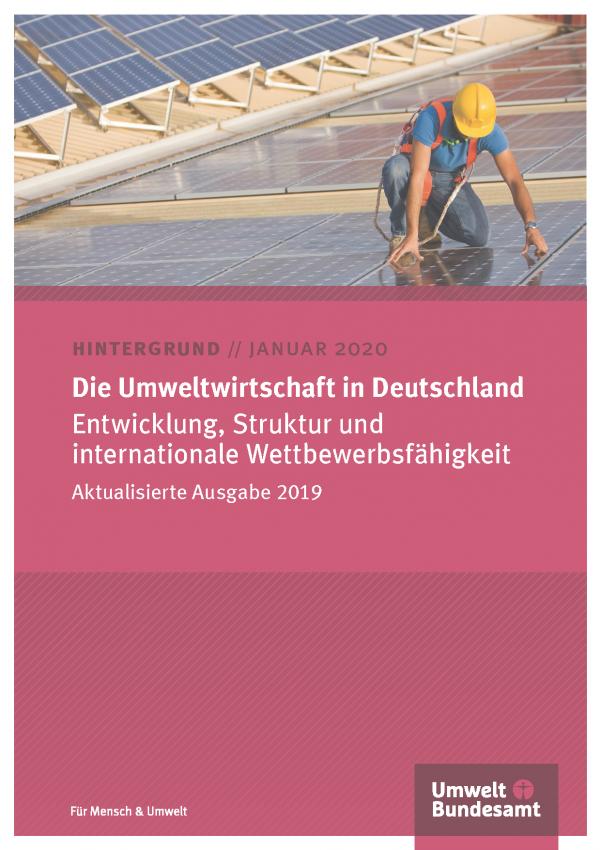 Cover des Hintergrundpapiers Die Umweltwirtschaft in Deutschland