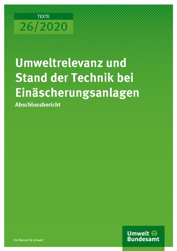Cover der Publikation TEXTE 26/2020 Umweltrelevanz und Stand der Technik bei Einäscherungsanlagen