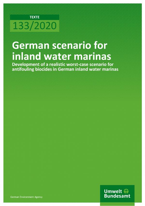 Cover of publication TEXTE 133/2020 German scenario for inland water marinas
