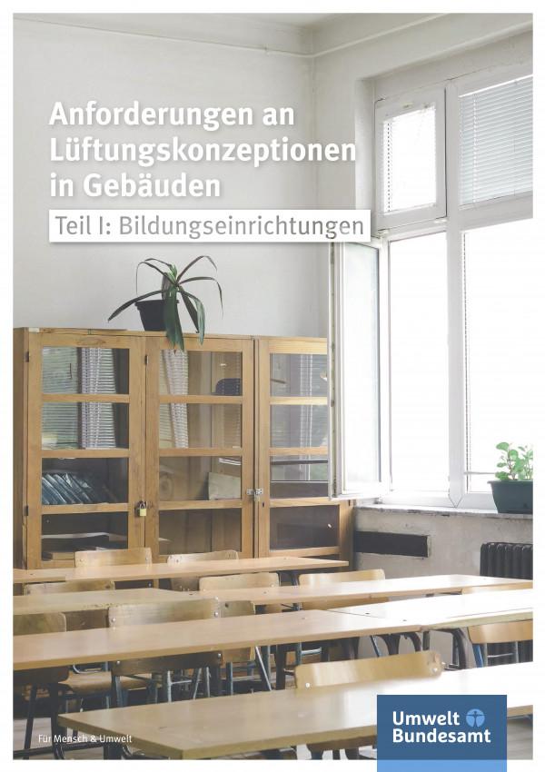 Cover der Broschüre Anforderungen an Lüftungskonzeptionen in Gebäuden