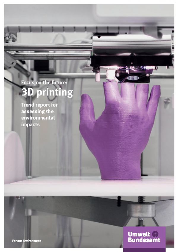 Cover of brochure Focus on the future: 3D printing