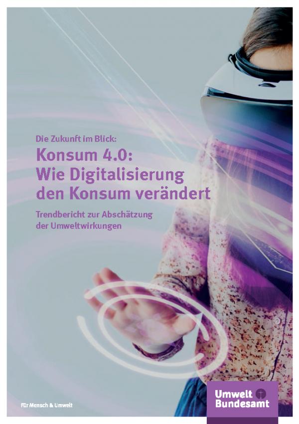 Cover der Publikation Konsum 4.0: Wie Digitalisierung den Konsum verändert