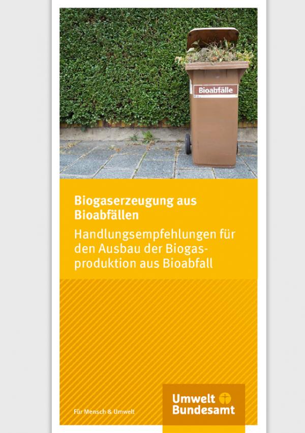Cover Flyer Biogaserzeugungaus Bioabfällen
