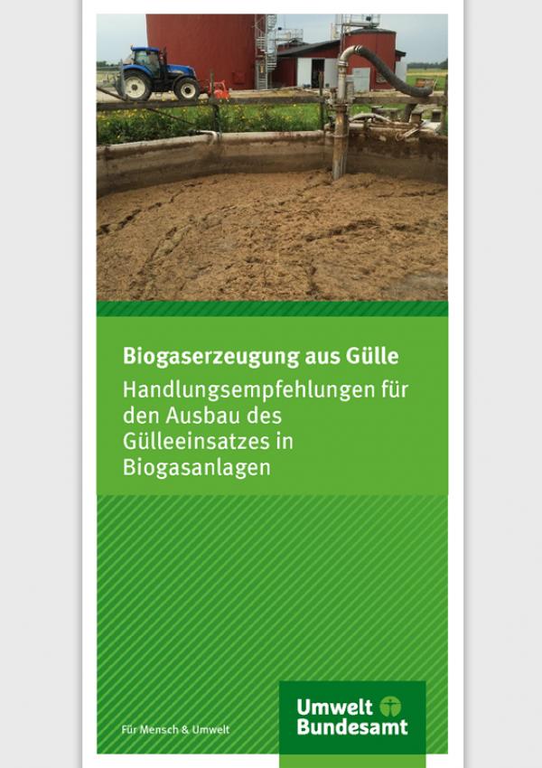 Cover Flyer Biogaserzeugung aus Gülle