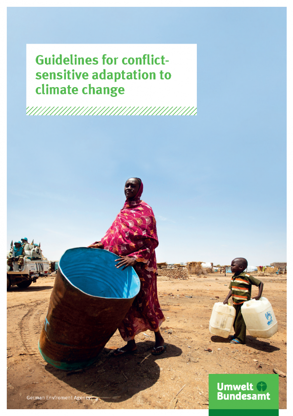 Cover of broschure Guidelines for conflict-sensitive adaptation to climate change
