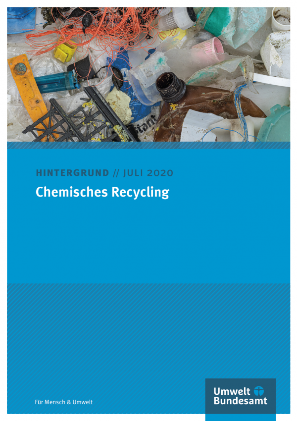Cover des Hintergrundpapiers Chemisches Recycling