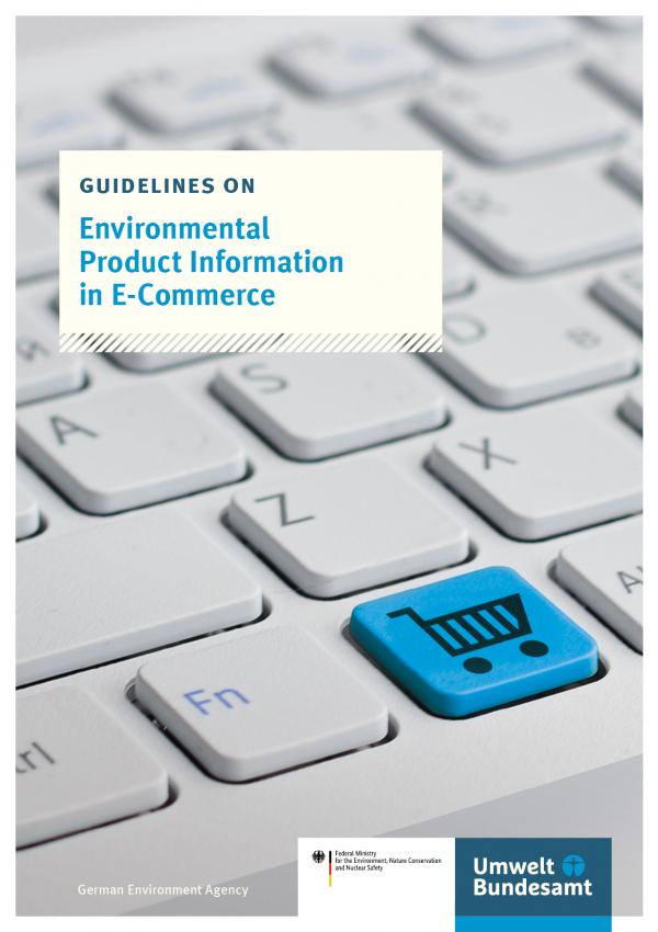 Cover of broschure guidelines on Environmental Product Information in E-Commerce