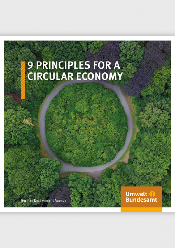 Cover of broschure 9 Principles for a Circular Economy