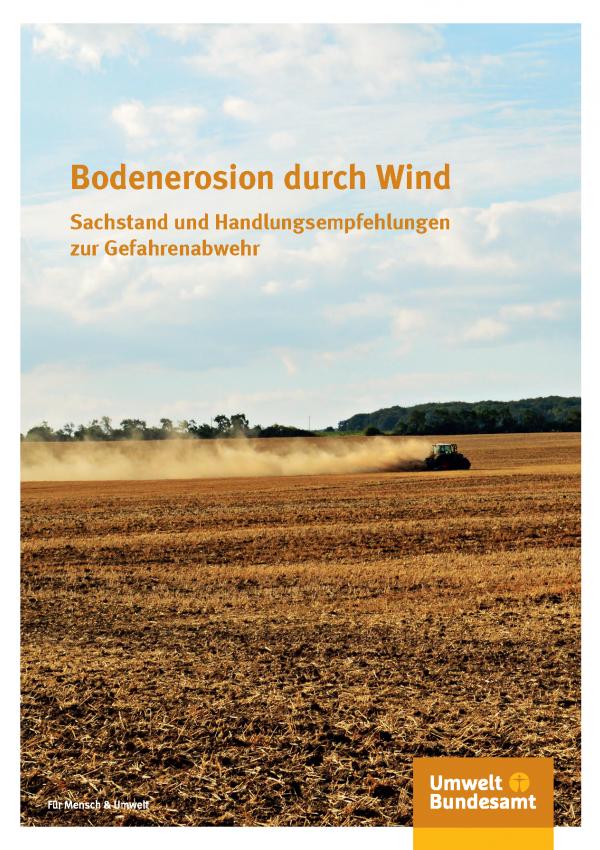Cover der Publikation Bodenerosion durch Wind: Traktor auf einem Acker