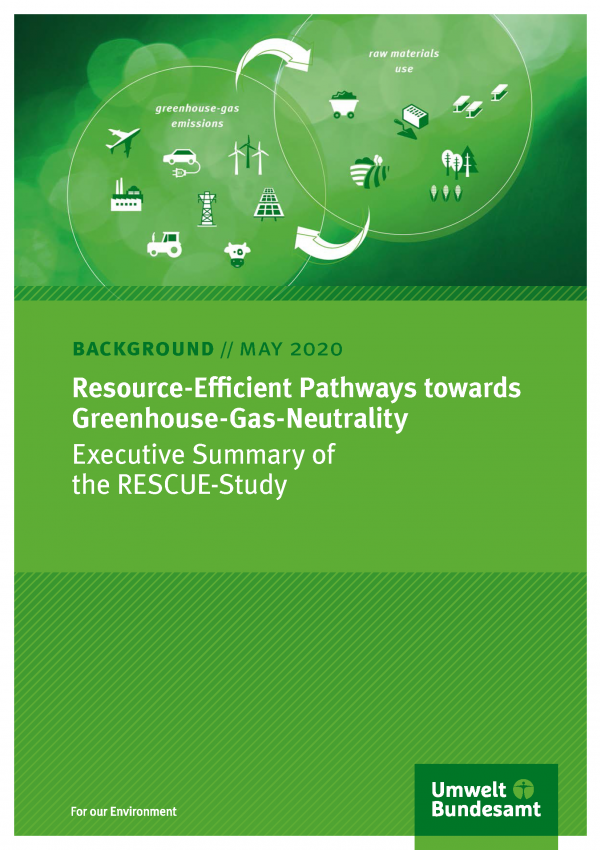 Cover of background paper Resource-Efficient Pathways towards Greenhouse-Gas-Neutrality
