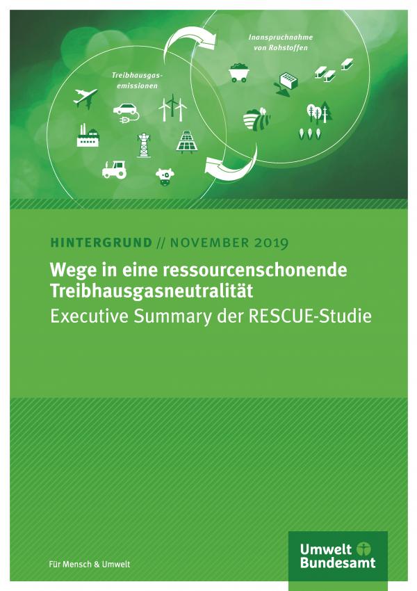 Cover des Hintergrundpapiers Wege in eine ressourcenschonende Treibhausgasneutralität