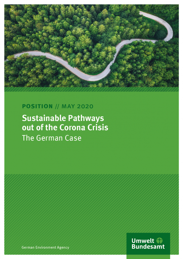 Cover of position paper Sustainable ways out of the economic crisis