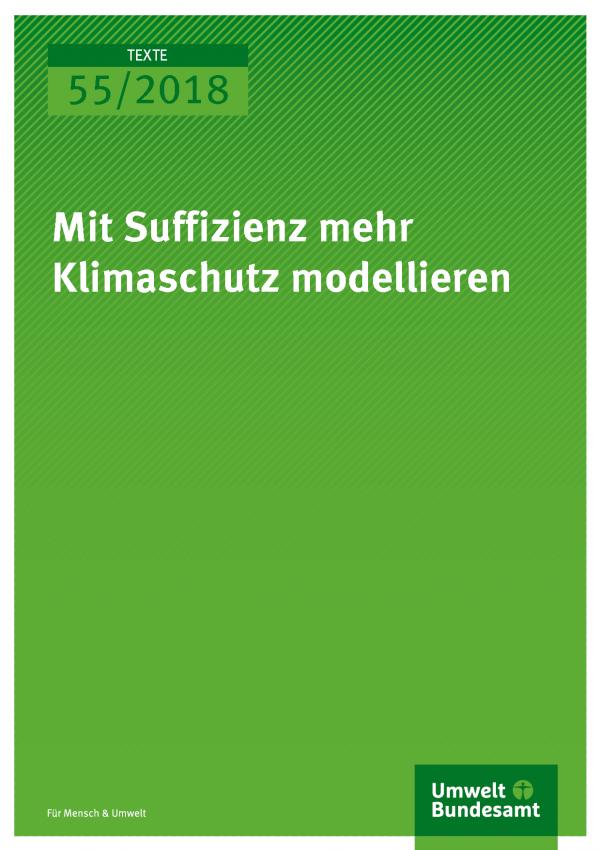 Cover der Publikation Texte 55/2018 Mit Suffizienz mehr Klimaschutz modellieren
