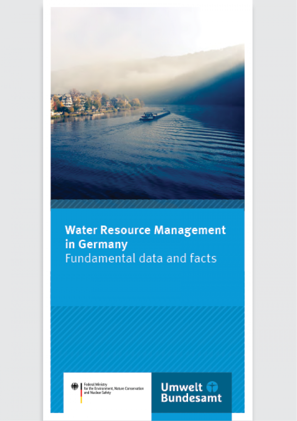 Cover of flyer Water Resource Management in Germany