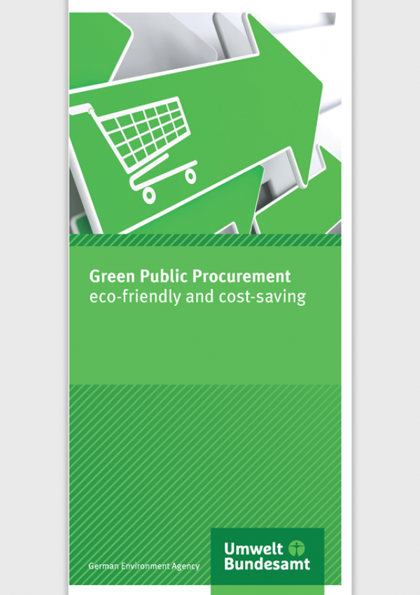 Cover of flyer Green Public Procurement eco-friendly and cost-saving
