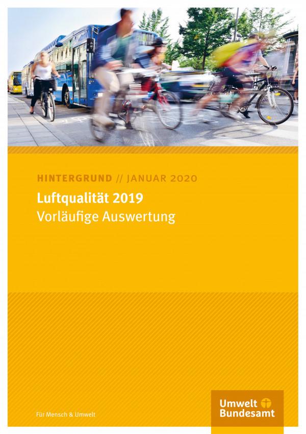 Cover des Hintergrundpapiers Luftqualität 2019