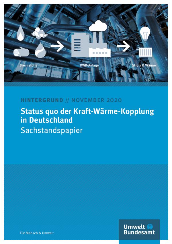 Cover des Hintergrundpapiers Status quo der Kraft-Wärme-Kopplung in Deutschland