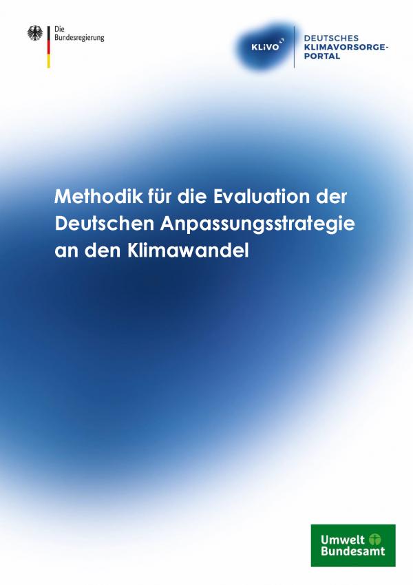 """Titelseite der Publikation """"Methodik für die Evaluation der Deutschen Anpassungsstrategie an den Klimawandel"""""""