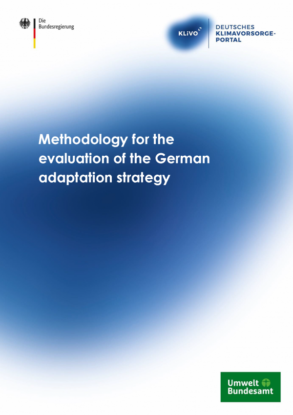 "Cover of the publication ""Methodology for the evaluation of the German adaptation strategy"""