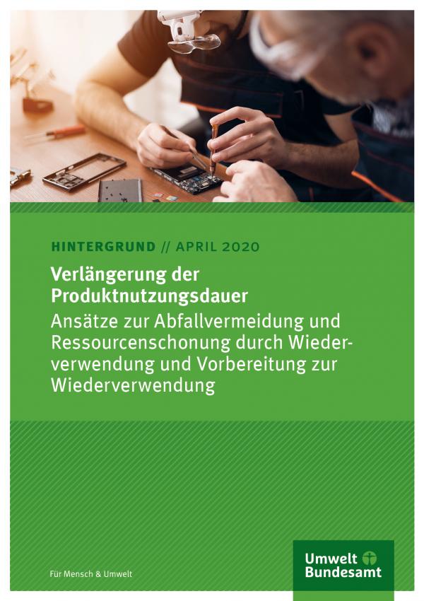 Cover des Hintergrundpapiers Verlängerung der Produktnutzungsdauer
