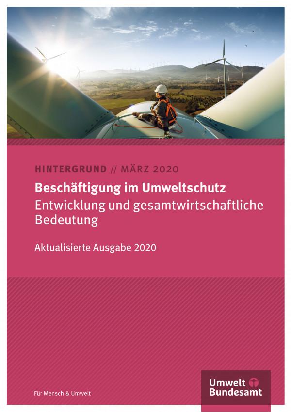 Cover des Hintergrundpapiers Beschäftigung im Umweltschutz 2020