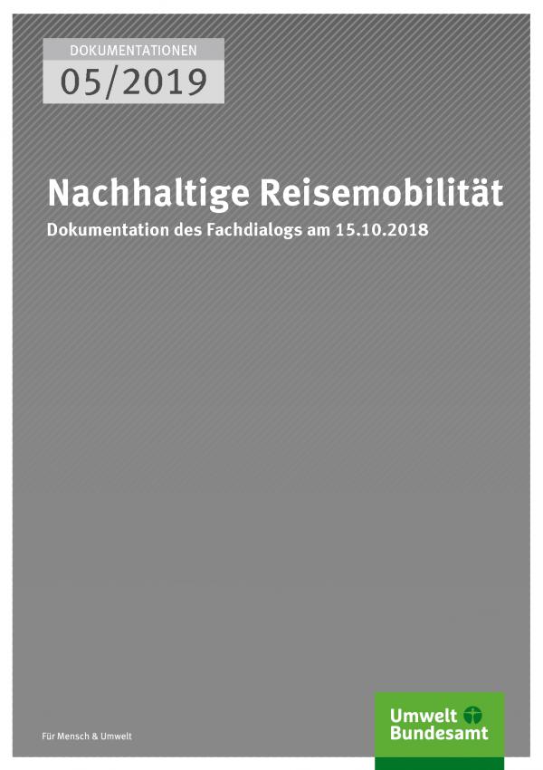 Cover der Publikation DOKUMENTATIONEN 05/2019 Nachhaltige Reisemobilität