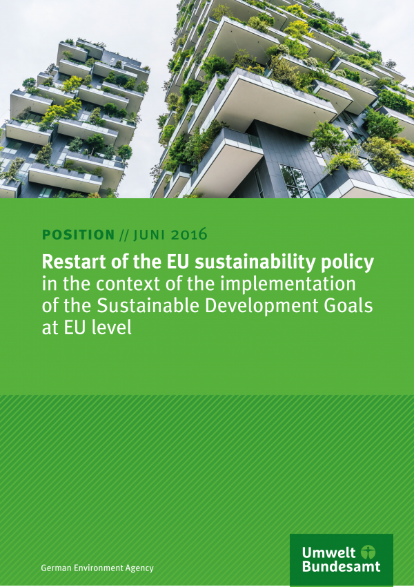 Restart of the EU sustainability policy