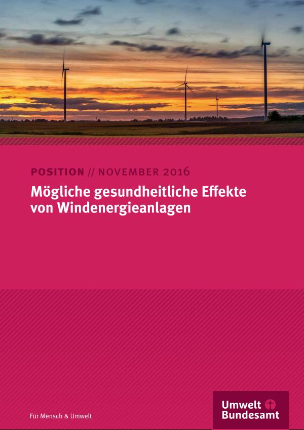 Mögliche gesundheitliche Effekte von Windenergieanlagen