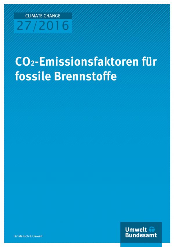 CO2-Emissionsfaktoren für fossile Brennstoffe