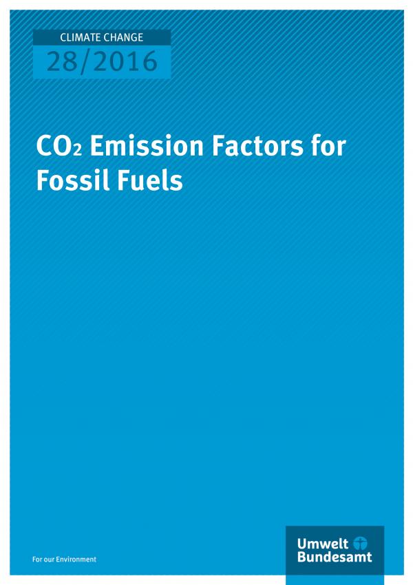 CO2 Emission Factors for Fossil Fuels