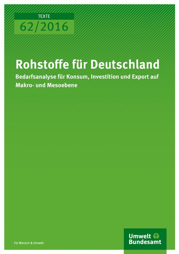 Rohstoffe für Deutschland